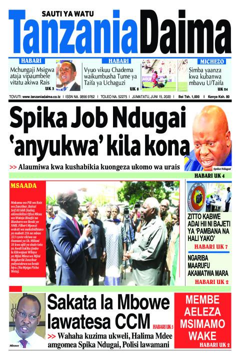 Spika Job Ndugai 'anyukwa' kila kona   Tanzania Daima
