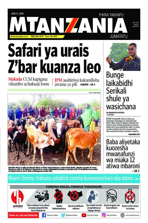 Safari ya urais Z'bar kuanza leo | Mtanzania