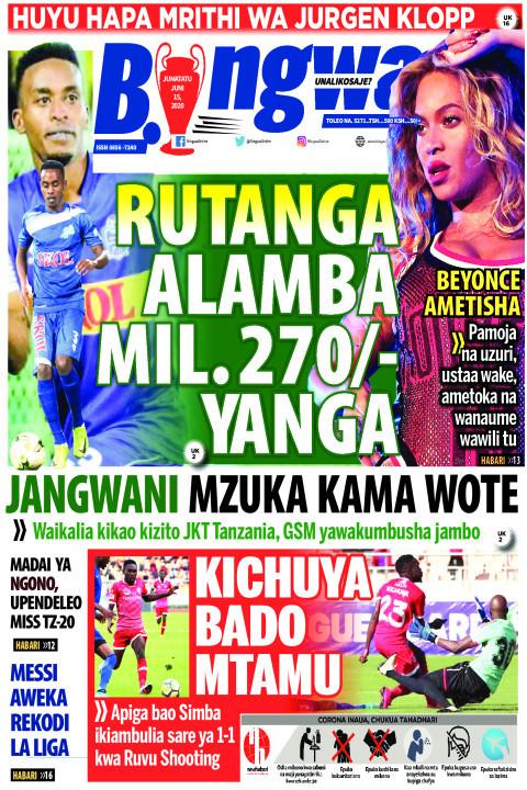 RUTANGA ALAMBA MIL. 270 YANGA | Bingwa