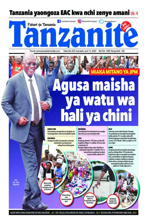 Agusa maisha ya watu wa hali ya chini | Tanzanite