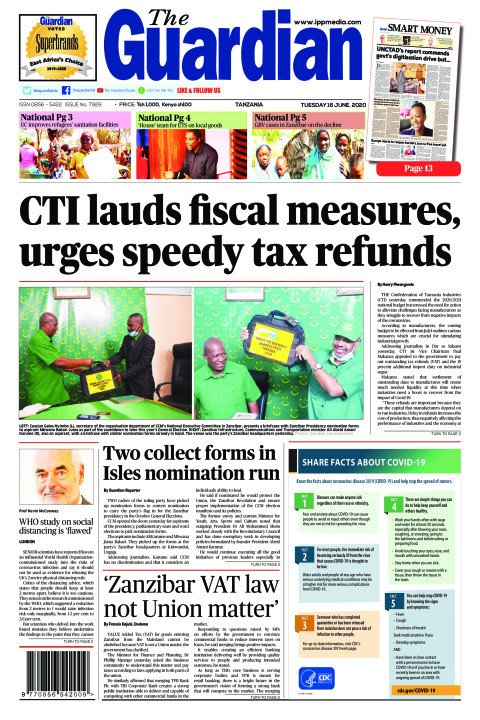 CTI lauds fiscal measures, urges speedy tax refunds | The Guardian