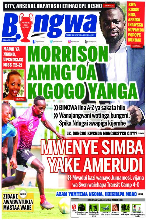 MORRISON AMNG'OA KIGOGO YANGA | Bingwa
