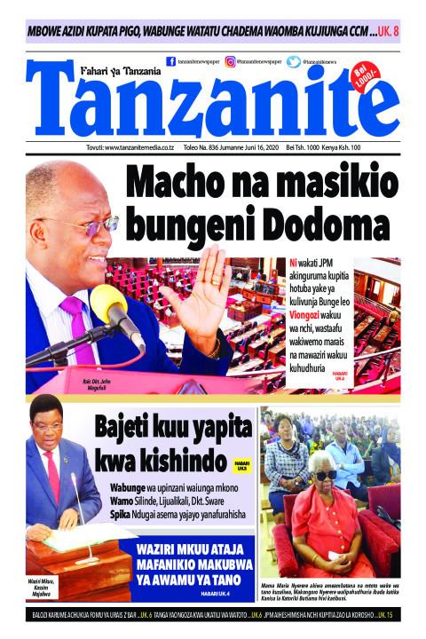 Macho na masikio bungeni Dodoma | Tanzanite