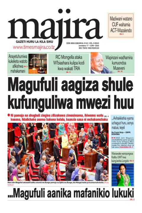 Magufuli aagiza shule zifunguliwe mwezi huu   MAJIRA