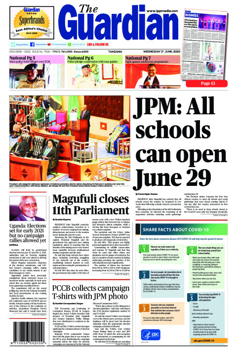 JPM: All schools can open June 29 | The Guardian