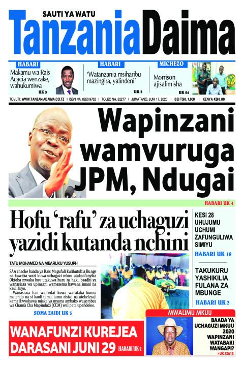 Wapinzani wamvuruga JPM, Ndugai   Tanzania Daima