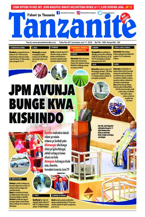 JPM AVUNJA BUNGE KWA KISHINDO | Tanzanite