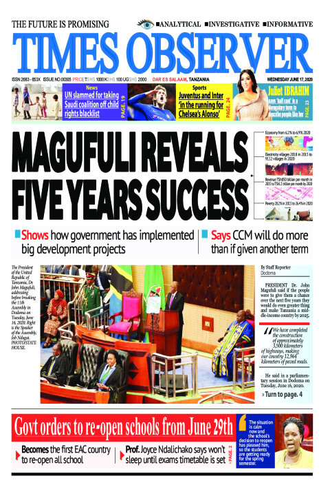 MAGUFULI REVEALS FIVE YEARS SUCCESS | Times Observer