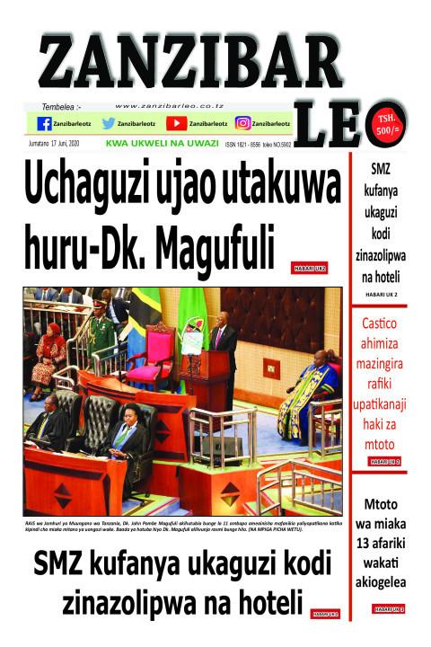 Uchaguzi ujao utakuwa huru-Dk. Magufuli | ZANZIBAR LEO