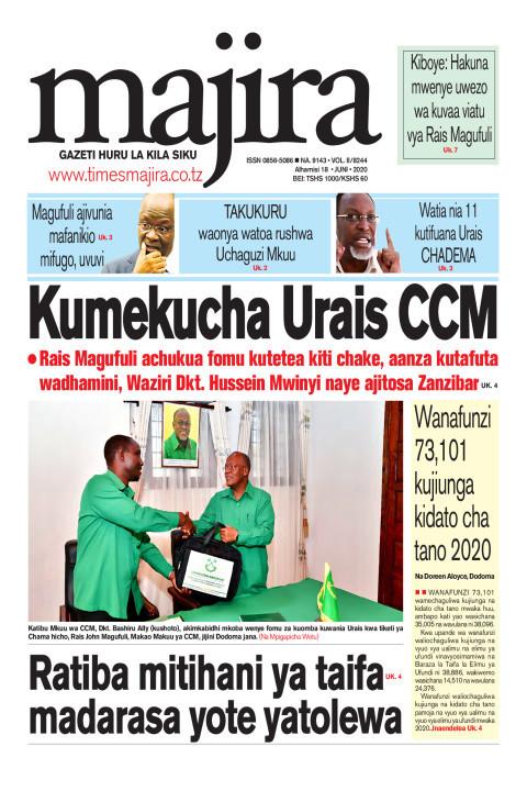Kumekucha Urais CCM | MAJIRA