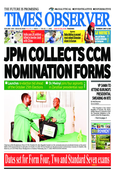 JPM COLLECTS CCM NOMINATION FORMS | Times Observer