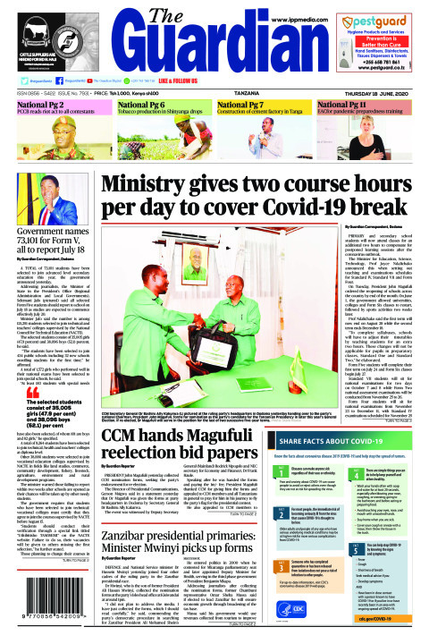 Ministry gives two course hours per day to cover Covid-19 br | The Guardian