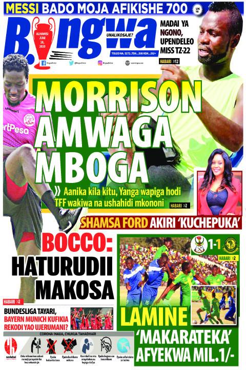 MORRISON AMWAGA MBOGA | Bingwa