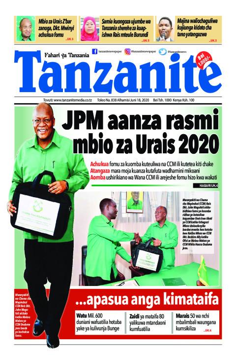 JPM aanza rasmi mbio za Urais 2020 | Tanzanite