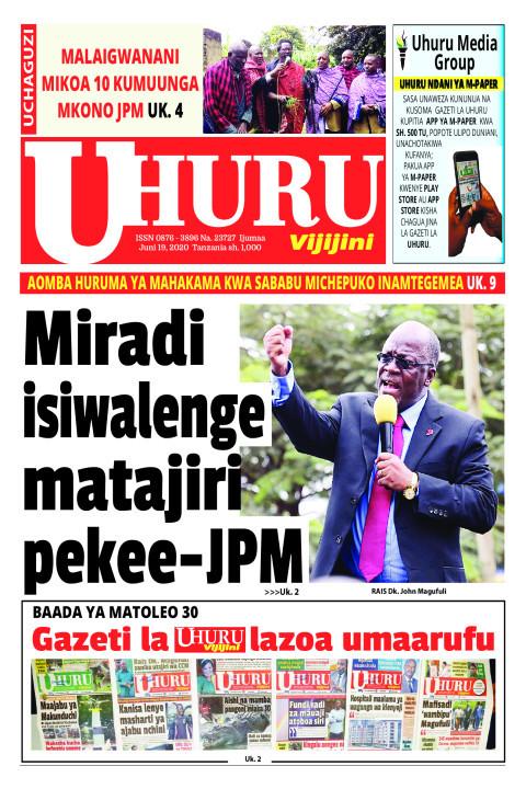 Miradi isiwalenge matajiri pekee-JPM | Uhuru