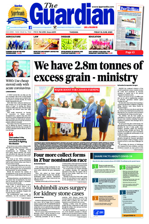 We have 2.8m tonnes of excess grain - ministry | The Guardian