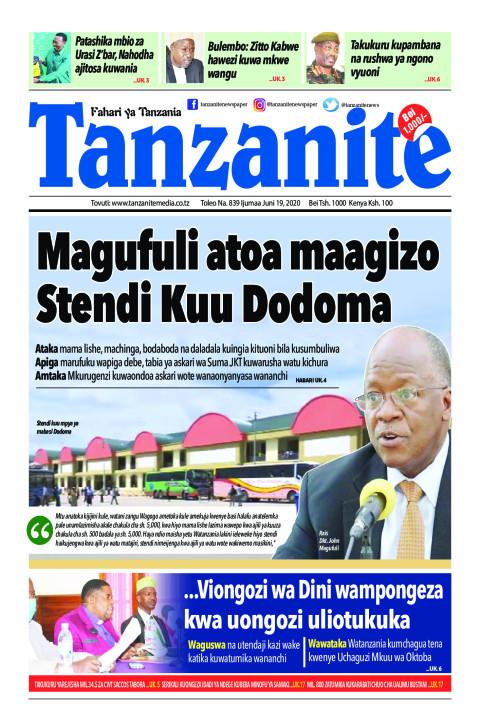 Magufuli atoa maagizo Stendi Kuu Dodoma | Tanzanite
