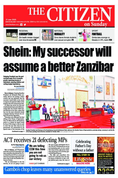 Shein: My successor will assume a better Zanzibar | The Citizen
