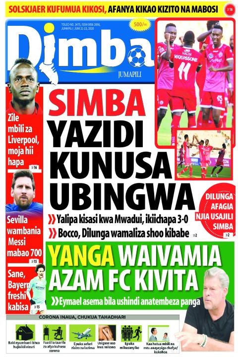 SIMBA YAZIDI KUNUSA UBINGWA | DIMBA