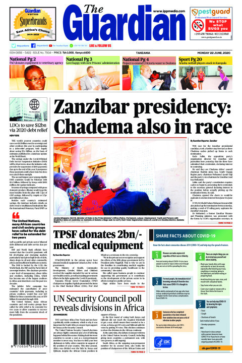 Zanzibar presidency: Chadema also in race | The Guardian