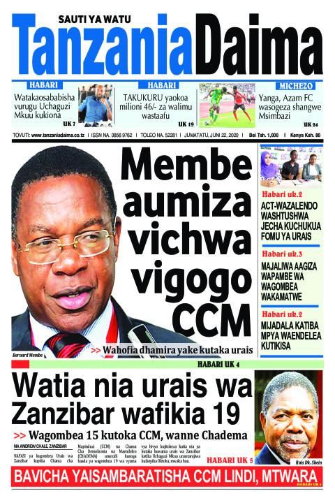 Membe aumiza vichwa vigogo CCM   Tanzania Daima