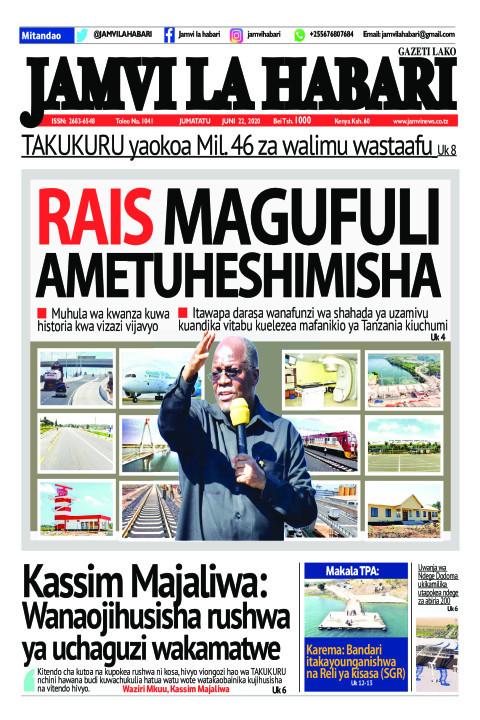 RAIS MAGUFULI AMETUHESHIMISHA | Jamvi La Habari