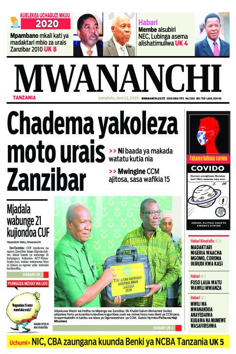 Chadema yakoleza moto urais Zanzibar | Mwananchi