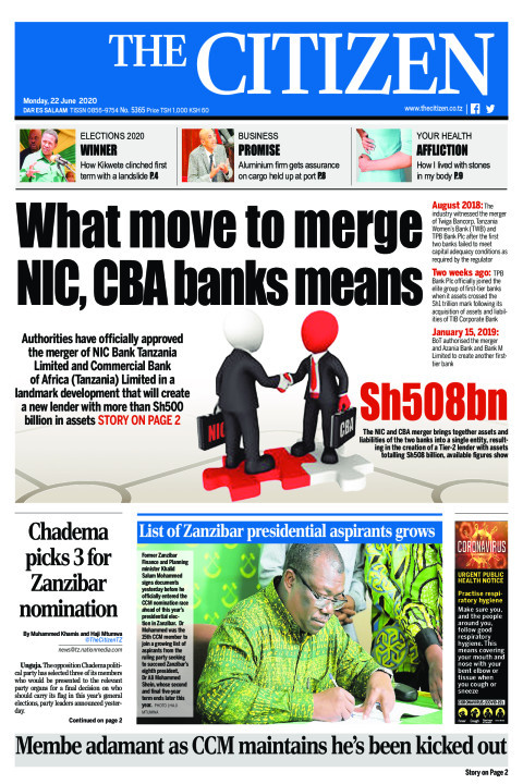 What move to merge NIC, CBA banks means | The Citizen