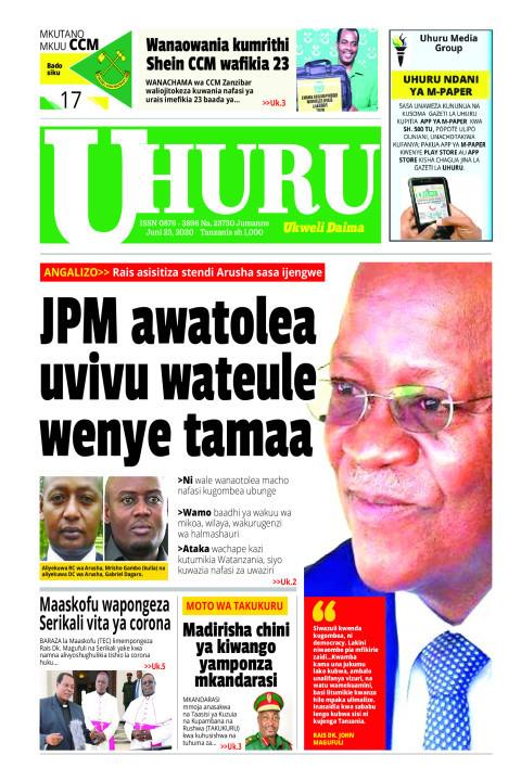 JPM AWATOLEA UVIVU WATEULE WENYE TAMAA | Uhuru