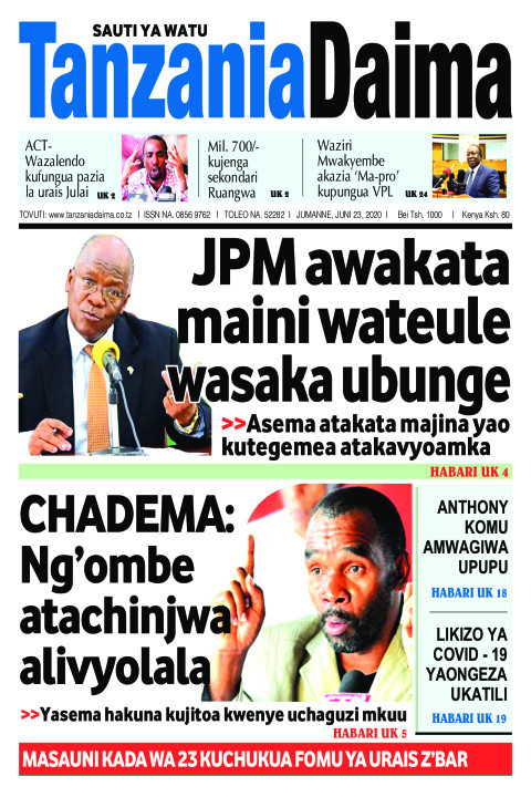 JPM awakata maini wateule wasaka ubunge   Tanzania Daima