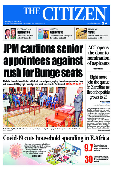 JPM cautions senior appointees against rush for Bunge seats | The Citizen
