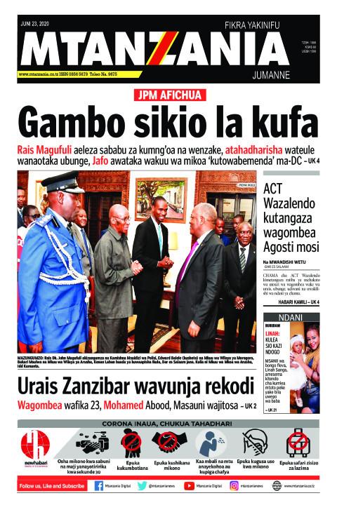 Gambo sikio la kufa | Mtanzania