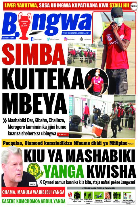 SIMBA KUITEKA MBEYA | Bingwa