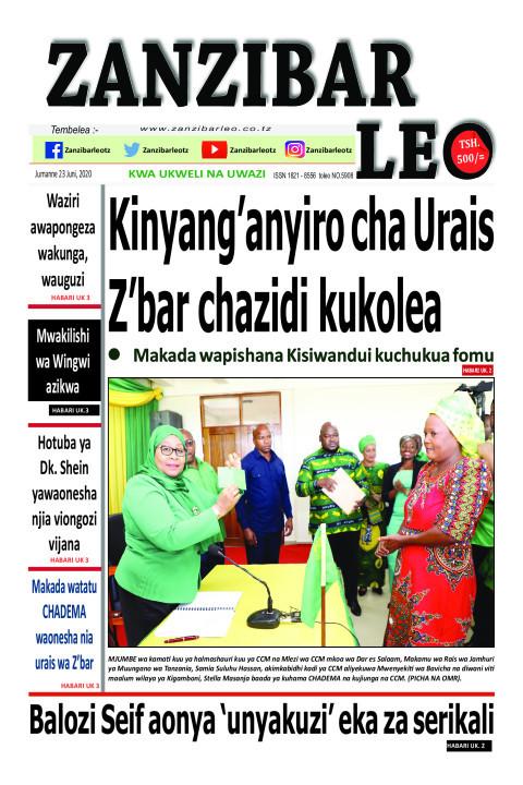 Kinyang'anyiro cha urais Z'bar chazidi kukolea | ZANZIBAR LEO