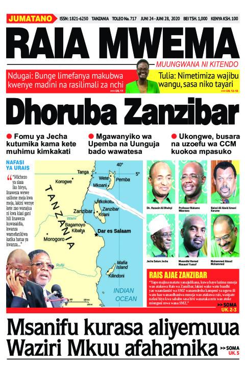 Dhoruba Zanzibar | Raia Mwema