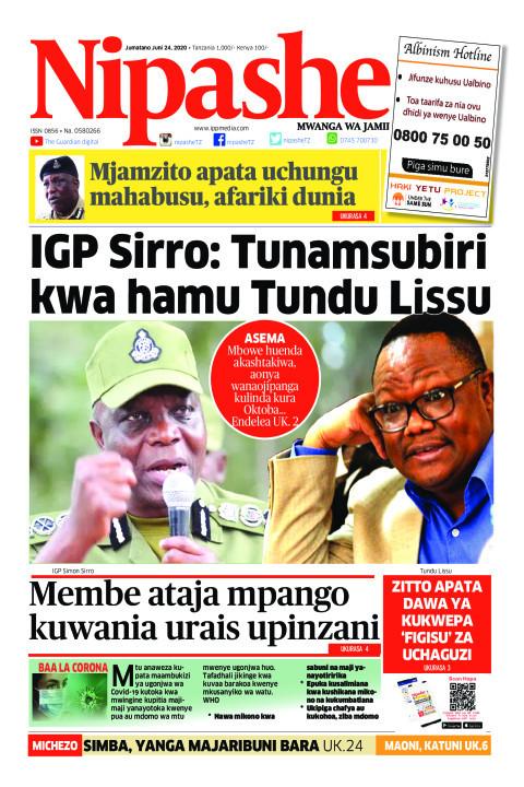 IGP Sirro: Tunamsubiri kwa hamu Tundu Lissu | Nipashe