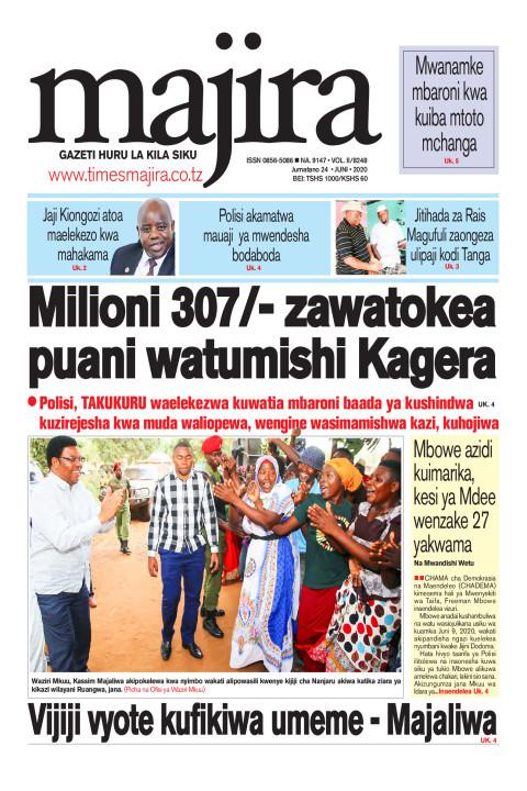 Milioni 307 zawatokea puani watumishi Kagera | MAJIRA
