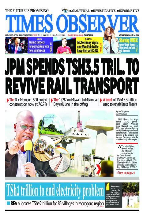 JPM SPENDS TSH3.5 TRIL. TO REVIVE RAIL TRANSPORT | Times Observer