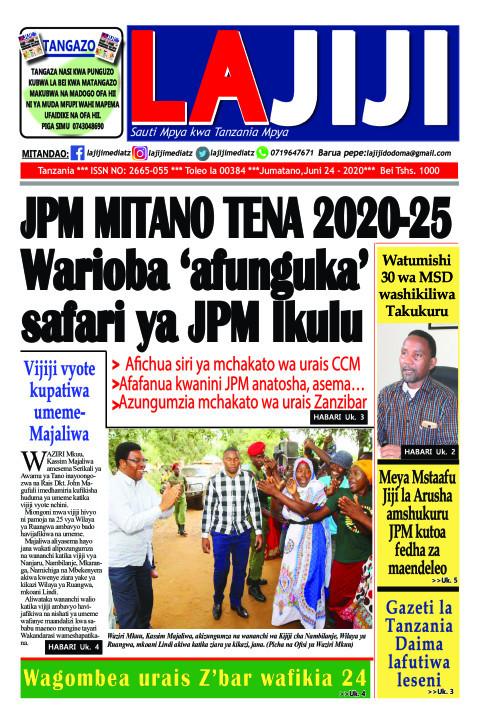 JPM MITANO TENA 2020-25 Warioba 'afunguka' safari ya JPM Ik | LaJiji