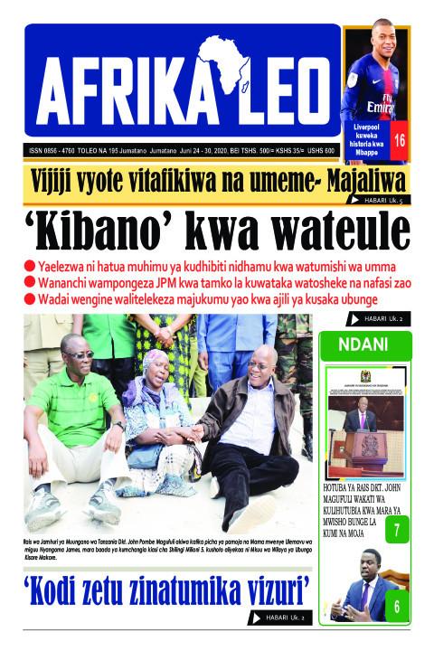 'Kibano' kwa wateule | AFRIKA LEO