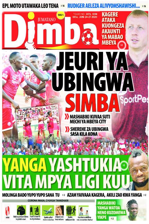 JEURI YA UBINGWA SIMBA | DIMBA