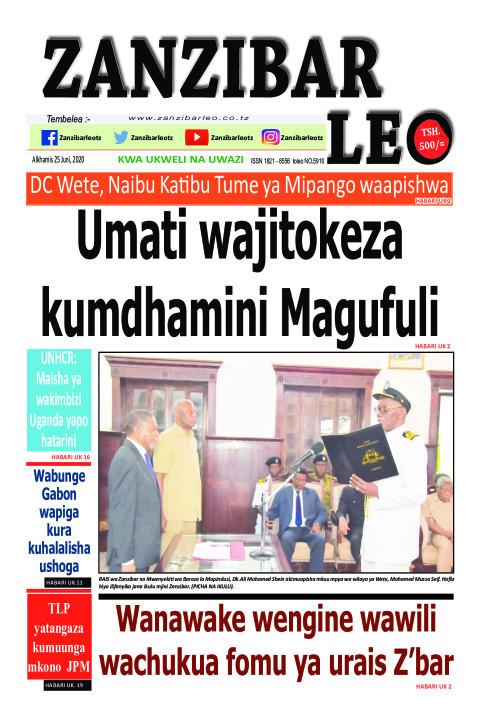 Umati wajitokeza kumdhamini Magufuli | ZANZIBAR LEO