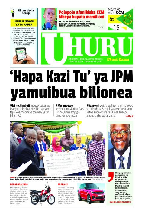 'HAPA KAZI TU' YA JPM YAMUIBUA BILIONEA  | Uhuru