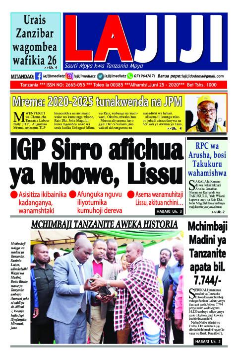 IGP Sirro afichua ya Mbowe, Lissu  | LaJiji