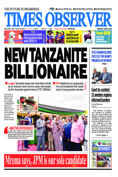 NEW TANZANITE BILLIONAIRE | Times Observer
