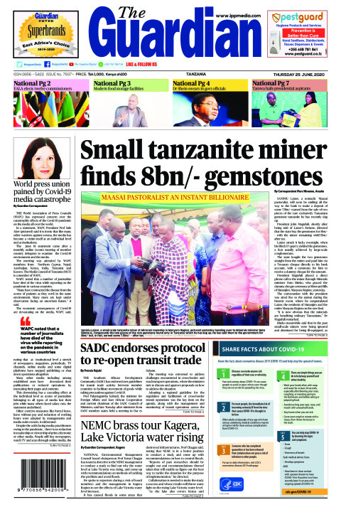 Small tanzanite miner finds 8bn/- gemstones  | The Guardian