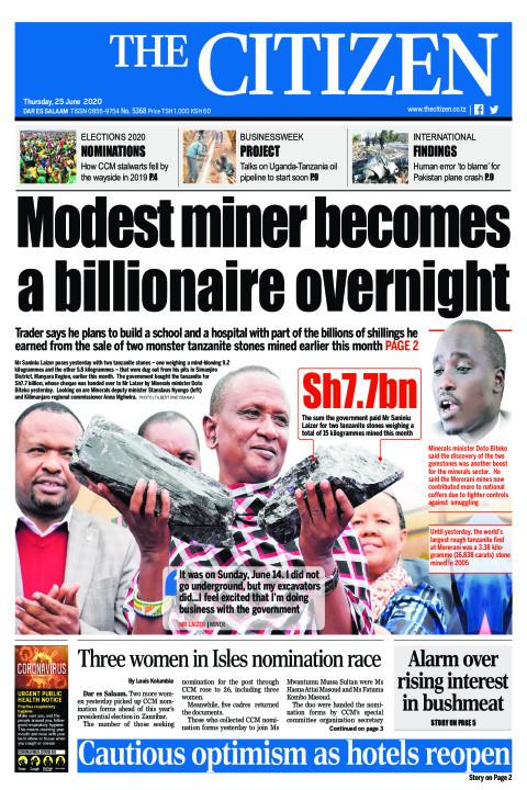 Modest miner becomes a billionaire overnight | The Citizen