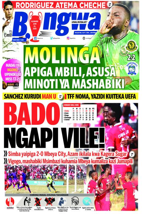 MOLINGA APIGA MBILI, ASUSA MINOTI YA MASHABIKI | Bingwa