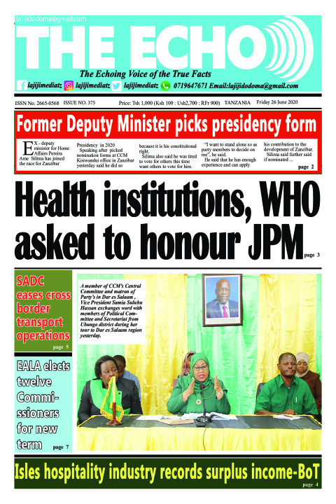 Health institutions, WHO