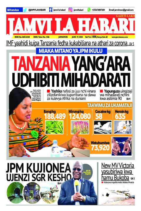 TANZANIA YANG'ARA UDHIBITI MIHADARATI | Jamvi La Habari